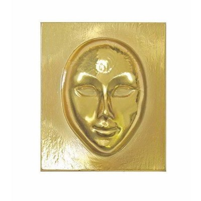 MASCHERE GOLD DA DECORARE CM.12X17 - SET 6 PZ.