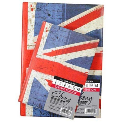 EBONY UK FLAG SKETCHBOOK FG.62 GR.150 - A4