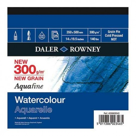 CARTA ACQUERELLO AQUAFINE GR.300 - MM.350 x 500 - FINE