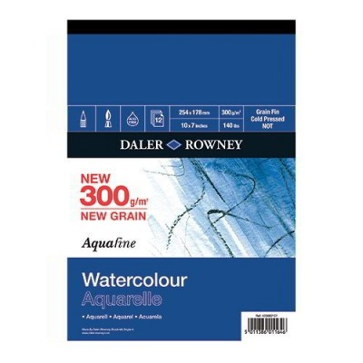 BLOCCO AQUAFINE AQUERELLO MM.400 x 500 - 12 FG - MEDIA/FINE - 4 LATI