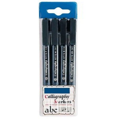 PENNE CALLIGRAPHY - SET 4 PEZZI - PUNTE ASSORTITE