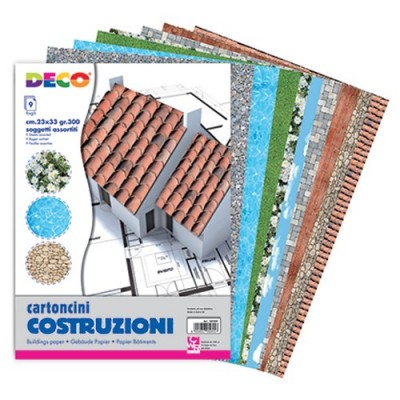 COLLAGE CARTONCINO GR300 - CONF 9 FG CM23X33 - ASS