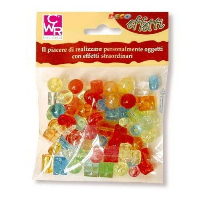PERLE KRISTALL FORME E COLORI ASSORTITI IN BUSTA