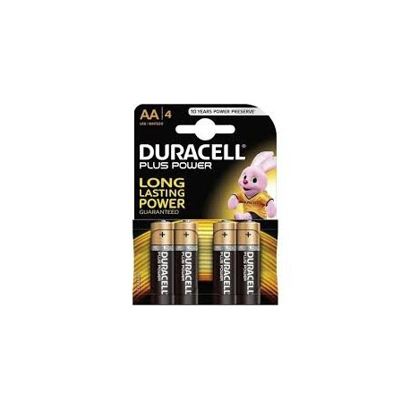BATTERIE STILO DURACELL ALKALINE PLUS POWER 4 AA STILO 1,5v  4 PZ