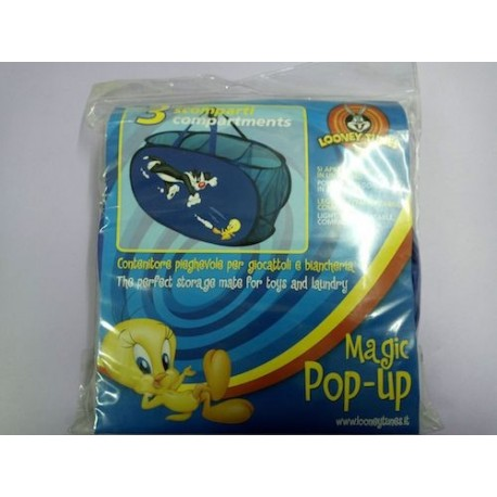 PORTA GIOCHI CREA E ARREDA MAGIC POP-UP CM 33X33X60 TITTY LOONEY TUNES