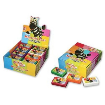 KIDDY CLAY - PLASTILINA GR454 - 4 COLORI ASSORTITI