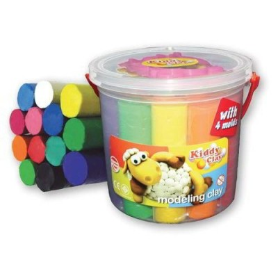 KIDDY CLAY - PLASTILINA GR50 - 6 COLORI - BLISTER