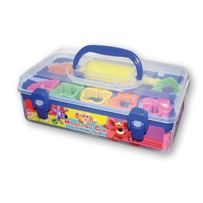 KIDDY CLAY - PLASTILINA GR1240 - 13 COLORI + ACCESSORI - SECCHIO