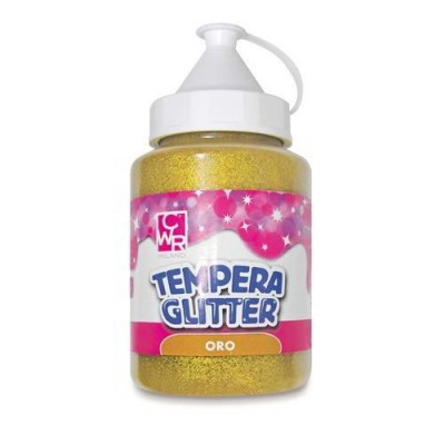 TEMPERA ALL'ACQUA GLITTER FLACONE 250 ML. ORO